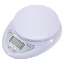 Digitalvåg köksvåg brevvåg 5 kg kapacitet / 1 gram precision vit