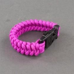 Armband Paracord med tändstål, Rosa