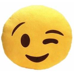 Emoji kuddar | Kudde | Stor 38 cm | Blink med ett öga