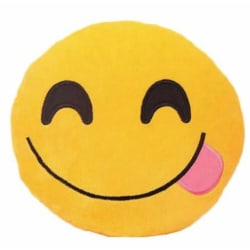 Emoji kuddar | Kudde | Stor 38 cm | Stick out tongue