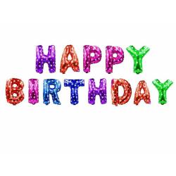 Happy Birthday Folieballonger 40 cm