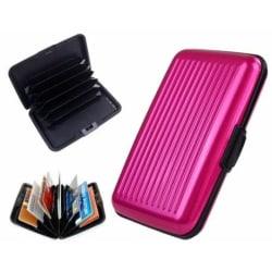 Kreditkortshållare med 6 kortfack, Rosa