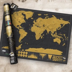 Scratch map - Världskarta Liten