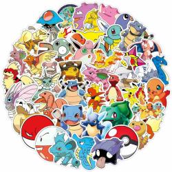 100st stickers klistermärken - Pokemon , Pikachu - Cartoon multifärg