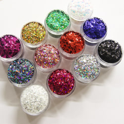 12st burkar glitter fyrkantiga / square 1mm