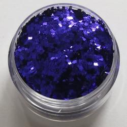 1st fyrkanter / square glitter Blå