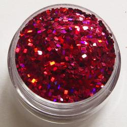 1st fyrkanter / square glitter Cerise