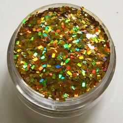 1st fyrkanter / square glitter Guld