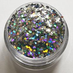 1st fyrkanter / square glitter Silver