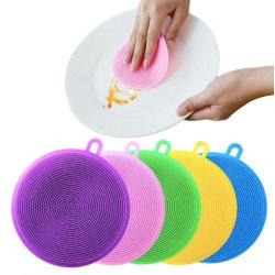 2-pack Disksvamp i silikon - Magnic Silicone Dish Sponge Washing multifärg