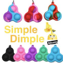 2-pack Simple dimple, MINI Pop it Fidget Finger Toy / Leksak- CE Blå - Lila - Rosa