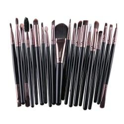 20st Sminkborstar - makeup brushes - Roséguld Rosa guld