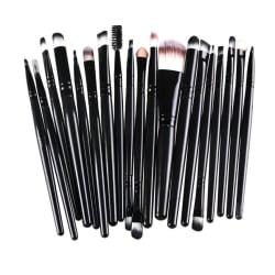 20st Sminkborstar - makeup brushes - Svart Svart