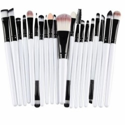 20st Sminkborstar - makeup brushes - Vit svart White