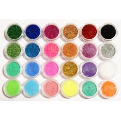 24 st burkar glitter för nageldekoration