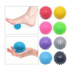 2st Spiky Ball Rund Muscle Massage Roller Yoga Stick Body multifärg