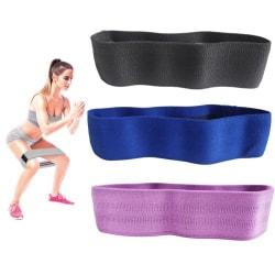 3-pack Booty band kit, Träningsband, Motståndsband, rehab multifärg one size
