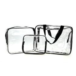 3st Necessär genomskinlig transparent sminkväska