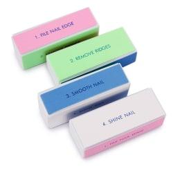 4in1 Bufferfil, nagelfil, till puts och filning multifärg