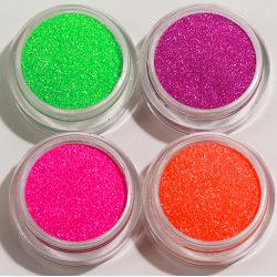 4st Finkornigt glitter Neon