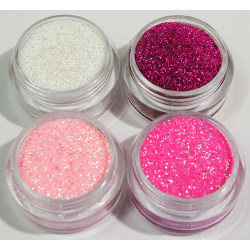4st finkornigt glitter rosa dröm