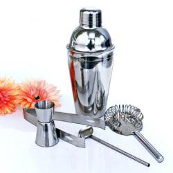 5-delar cocktailset , barset,  shaker 350ml - Rostfritt stål Silver