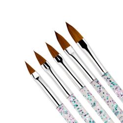 5st Exklusiva akryl/UV Penslar naglar  multifärg