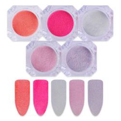 Nagelglitter mix - Rosa, lila, vit Korall