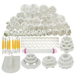 68st verktyg för tårtbakning / bakredskap / modderingsverktyg Vit