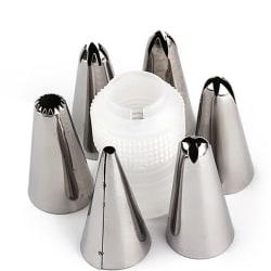 6st spritstyllar med koppling, spritsar Silver