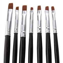 7st Akryl/UV Penslar naglar svarta Svart