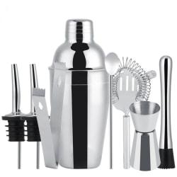 8-delar cocktailset , barset,  shaker 550ml - Rostfritt stål Silver