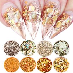 8st nagelglitter glitter , Nageldekorationer