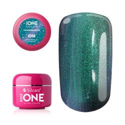 Base one - Chameleon - Emerald night 5g UV-gel Grön
