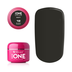 Base one - Matt - Black night 5g UV-gel Svart