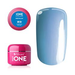 Base one - Metallic - Cosmic blue 5g UV-gel Blå