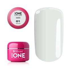 Base one - Neon - White 5g UV-gel Vit