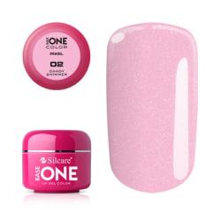 Base one - Pixel - Candy shimmer 5g UV-gel Rosa