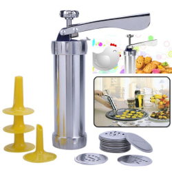 Biscuit Press Set cake Machine inklusive 20st designer Silver