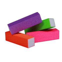 4st Bufferfilar neon, bufferfil nagelfil multifärg