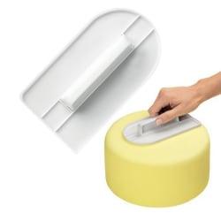 Cake smoother - Tårtutjämnare - Bakning  Vit