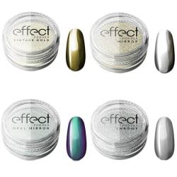Chrome pigment - 4 olika - Silcare Mirror effect