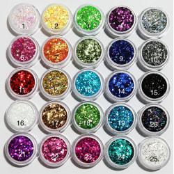 Glitter Hexagon 24. Sea