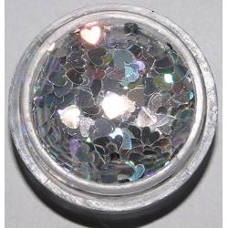 Glitter hjärtan silver