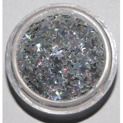 Glitter stjärnor silver