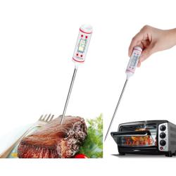 Grill / Stektermometer med LCD-skärm Svart