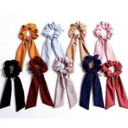 Hårsnoddar , hair Scrunchies med scarf, hårband, Hair bands  Mörkblå