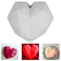 Hjärtformad Diamant Silikonform - Bakform