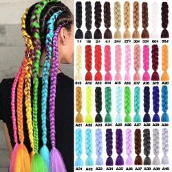 Jumbo braids, Ombre braids , Rasta flätor  - 30 färger  Black Enfärgad - #2