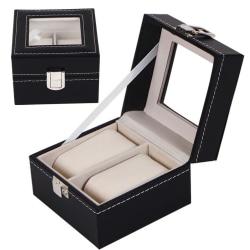 Lyxig Klockbox / Klocklåda / Urbox / Urboxs för 2 klockor Black